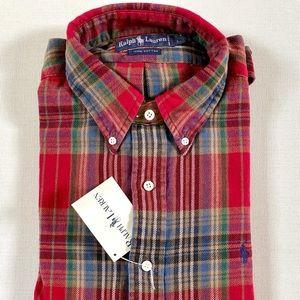 Men's Ralph Lauren 100% Plaid Cotton Shirt Large